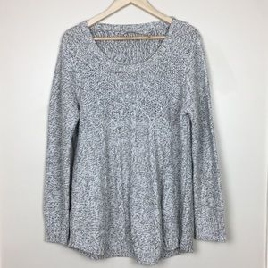 Soft surroundings grey pullover sweater XL